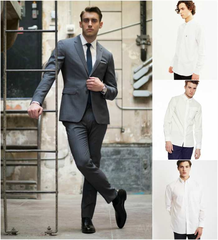 best shirts body type grey suit white oxford shirt