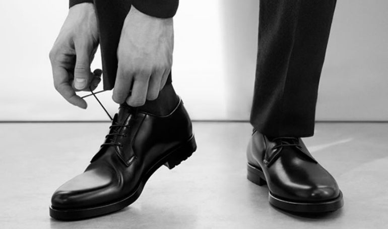 black derby shoes mens street style