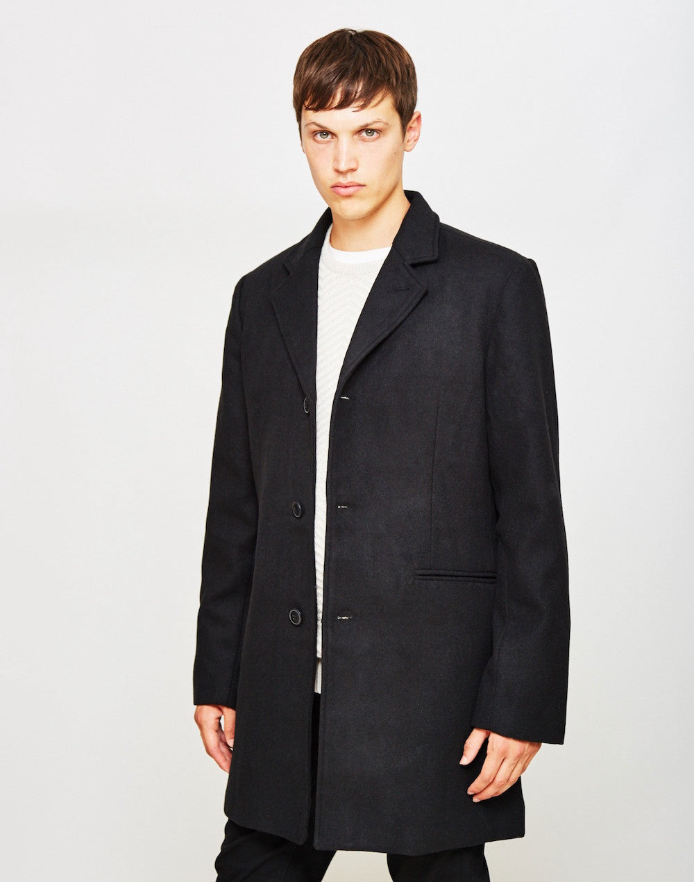 black idle man overcoat mens