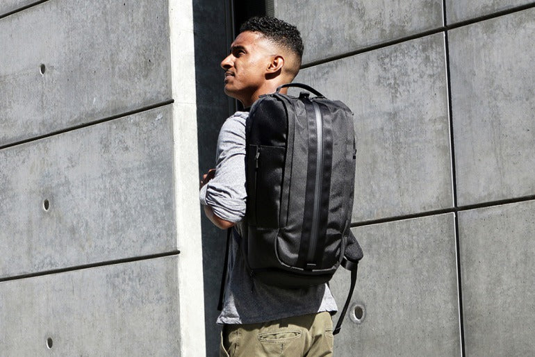 black backpack for men