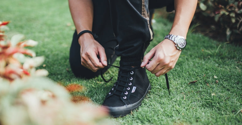 black superga mens streetstyle