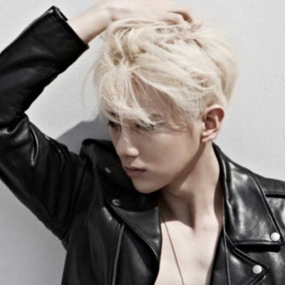 blonde korean hair men
