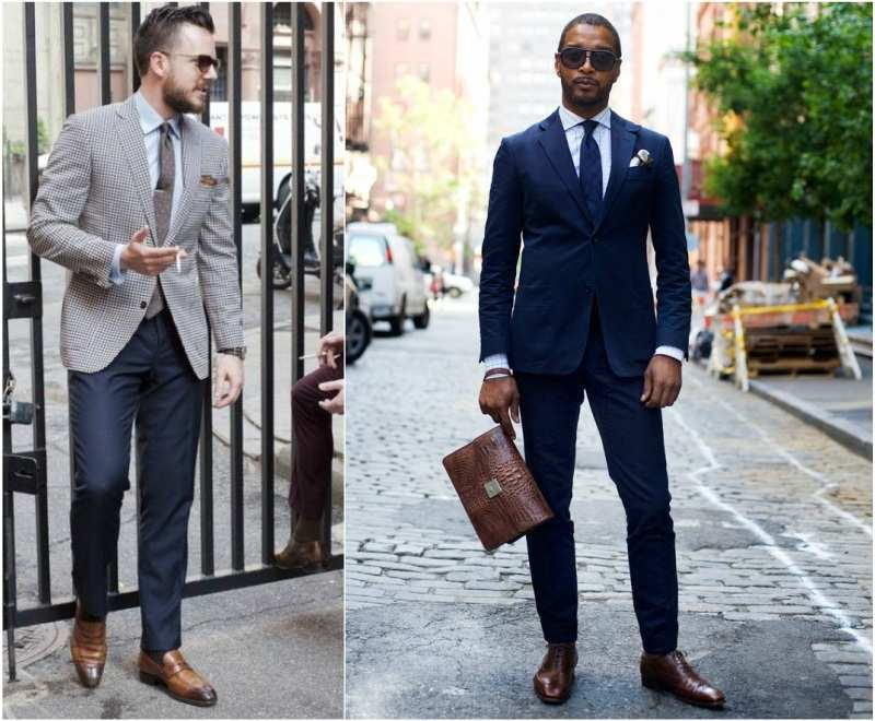 blue chinos formal look
