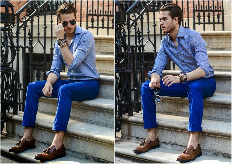 What To Wear With Blue Chinos