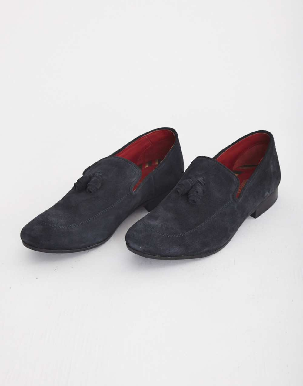 blue suede mens loafers