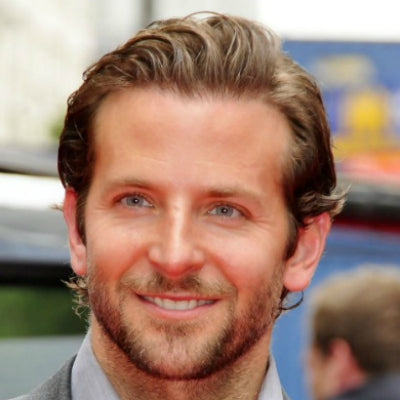 bradley cooper slicked back hairstyle for men