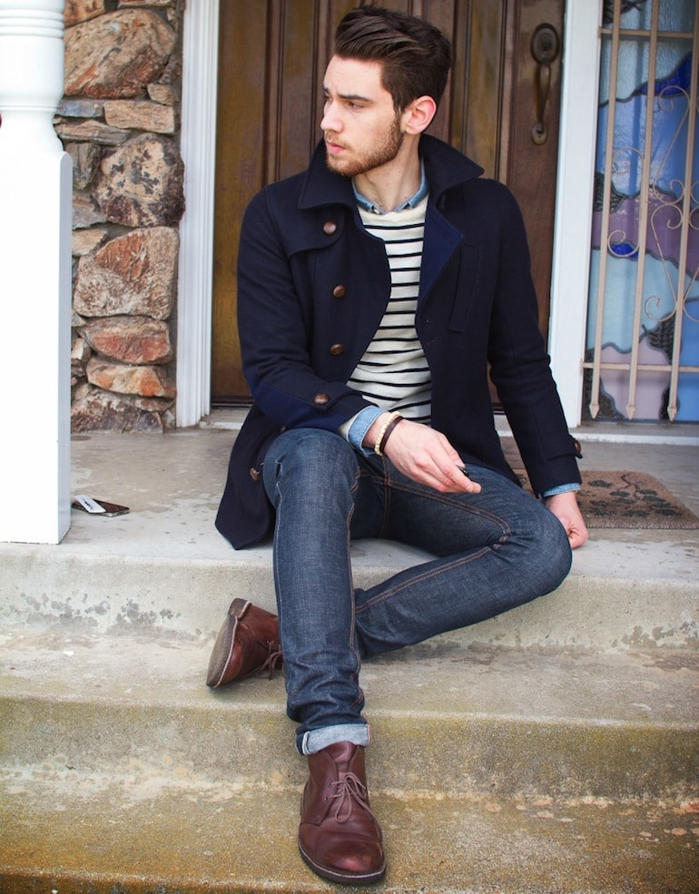 brown desert boots men style -min