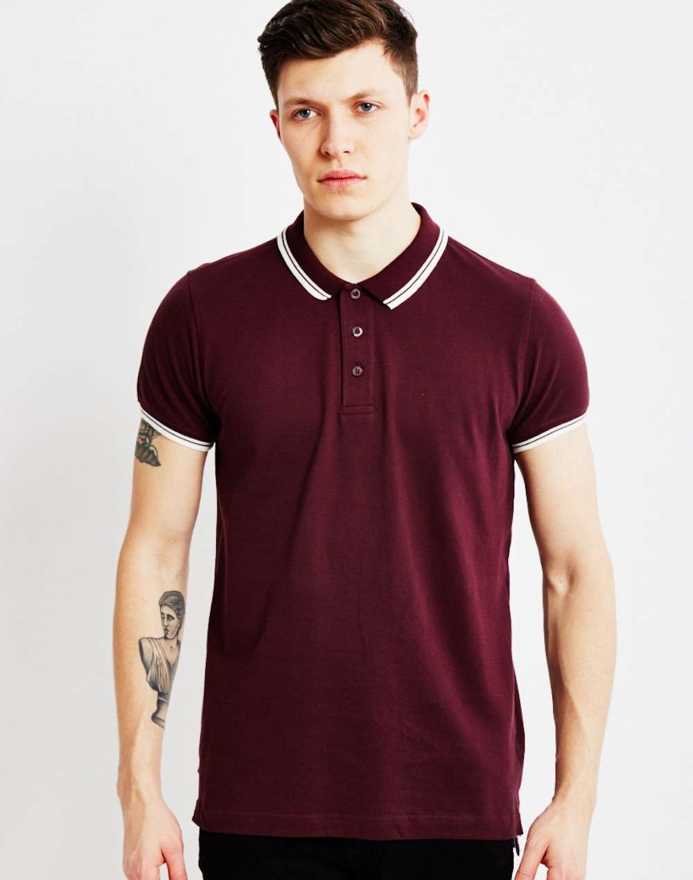 the idle man burgundy polo shirt for men