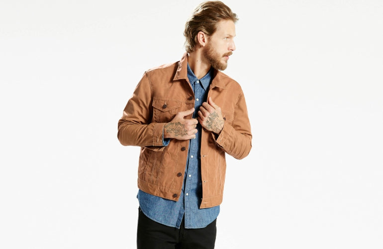 canvas trucker jacket mens