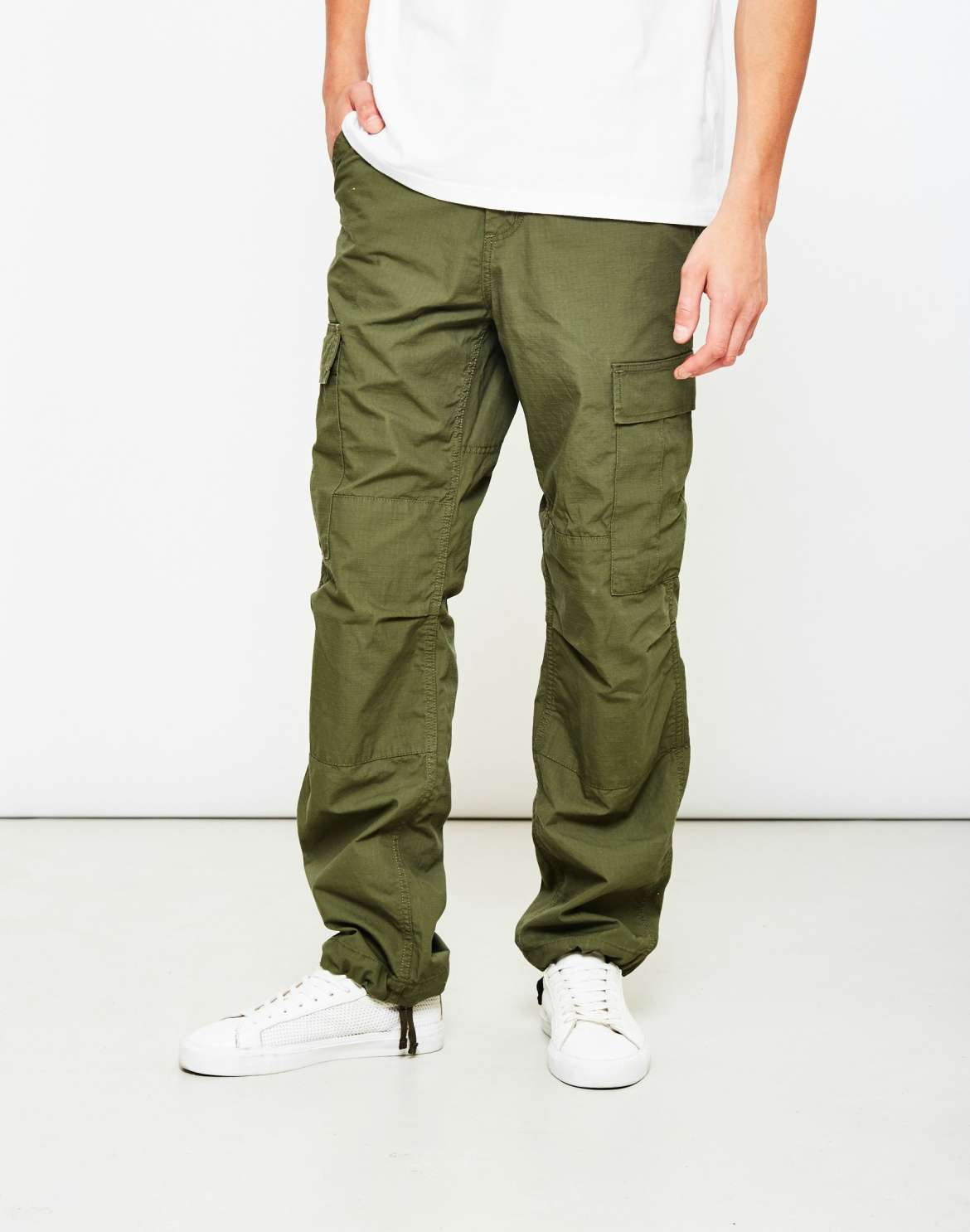 mens carhartt green cargo trousers