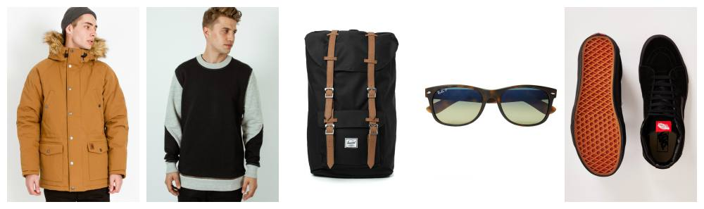 carhartt parka a question of jumper - herschel backpack - ray-ban sunglasses - vans trainers