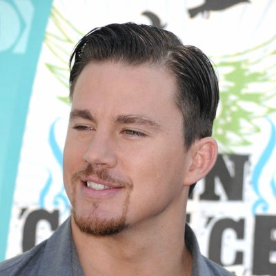 channing tatum short sideburns mens