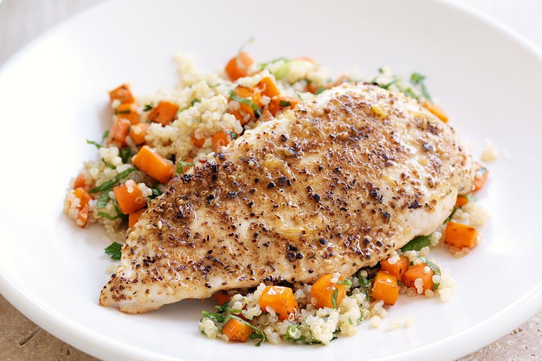 chicken and quinoa post workout meal