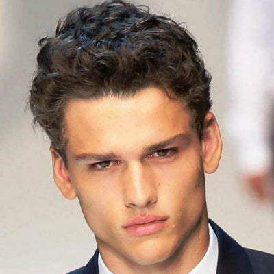 coarse curly hair for men