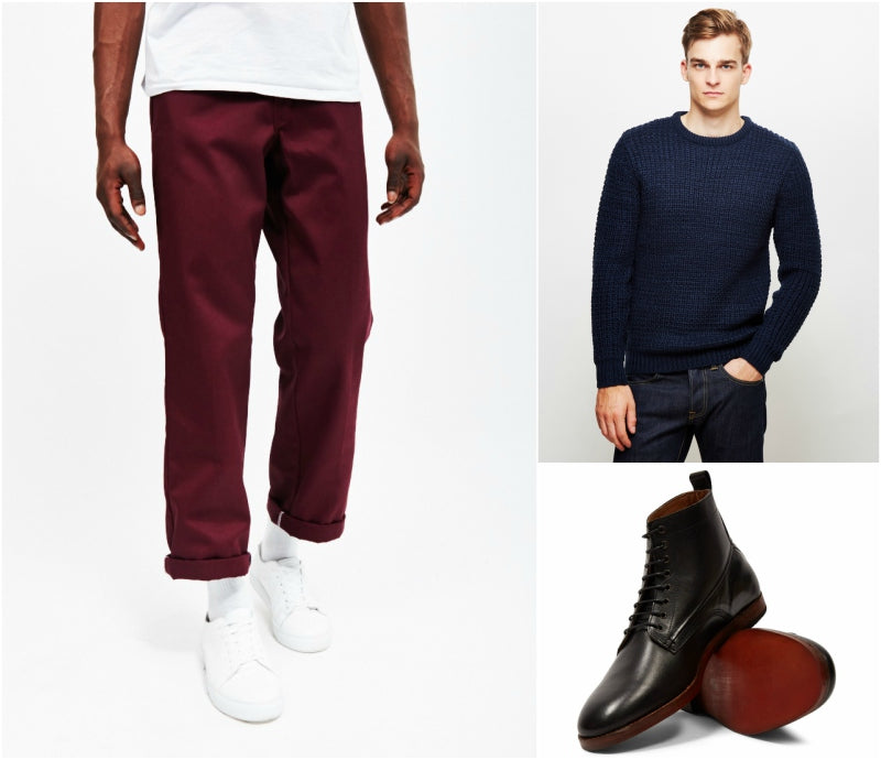 colour combinations maroon and navy