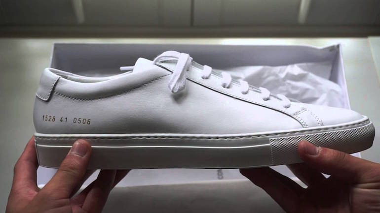 common project white low top mens