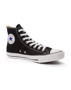converse all star mens black and white trainers