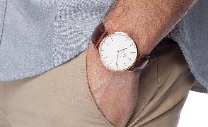 daniel wellington watch mens street style