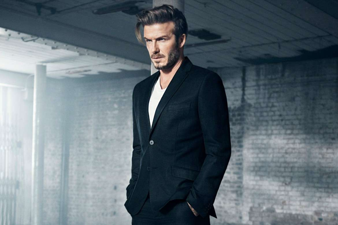 david beckham black suit
