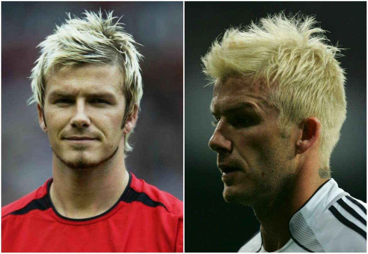 david beckham bleached hair for men