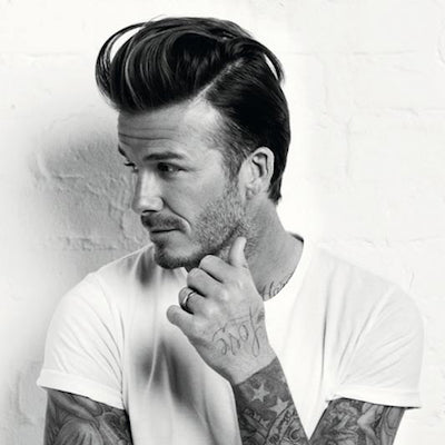 david beckham mens long hair quiff