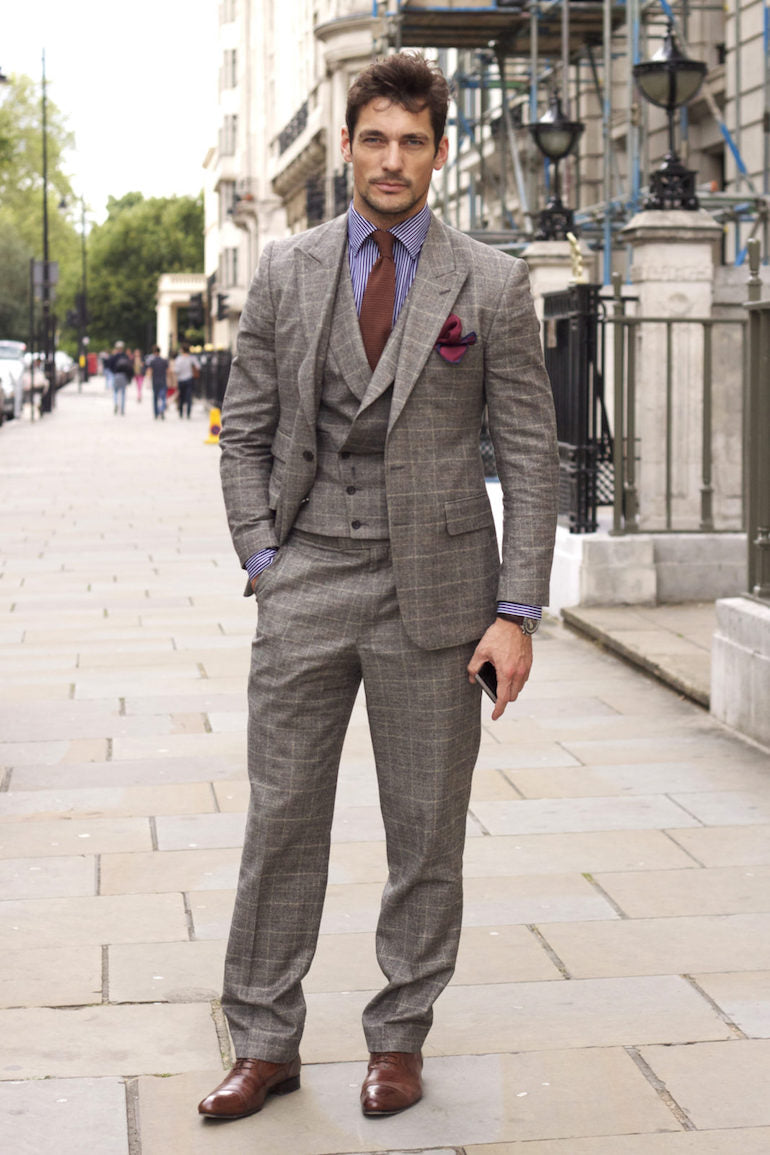 david gandy grey suit mens