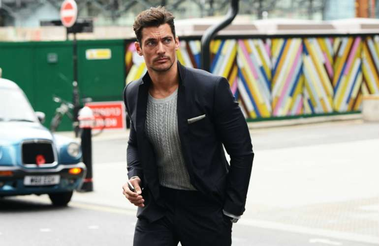 david gandy navy suit mens street style
