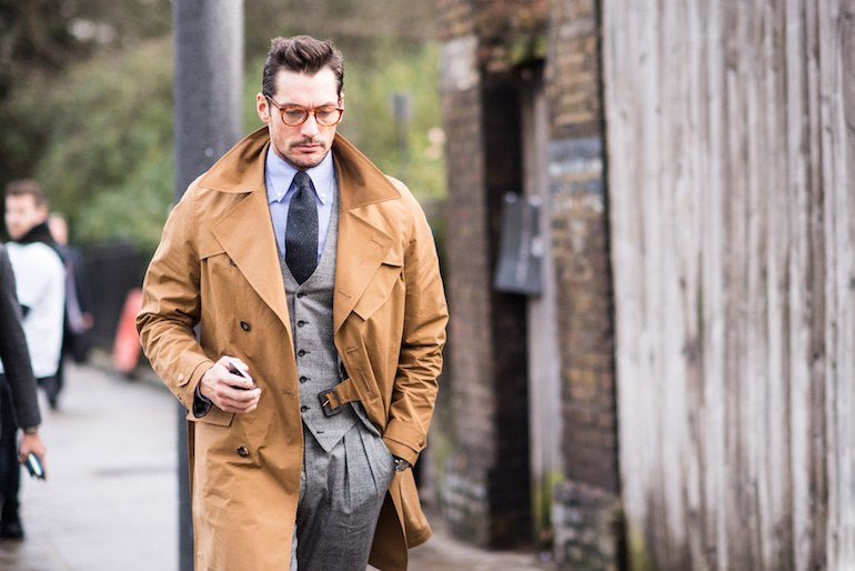 david gandy trench coat mens