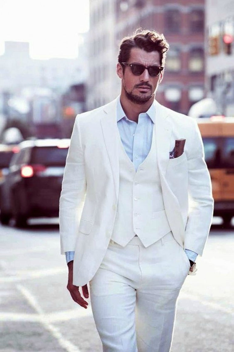 1a0750f3d8 ... david-gandy-white-three-piece-suit-summer-wedding