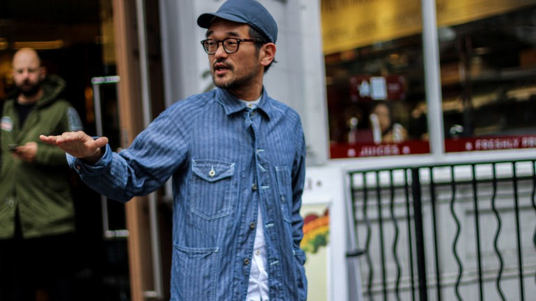denim shirt street style mens