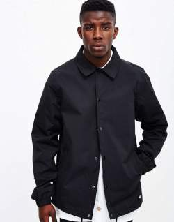 dickies black mens coach jacket