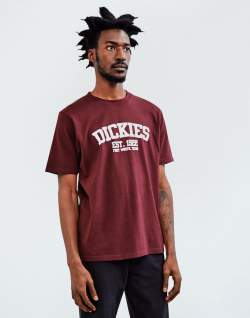 dickies finley t-shirt-burgundy mens