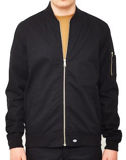 dickies hughson bomber jacket black for men