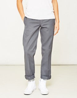 dickies slim fit chinos grey for men