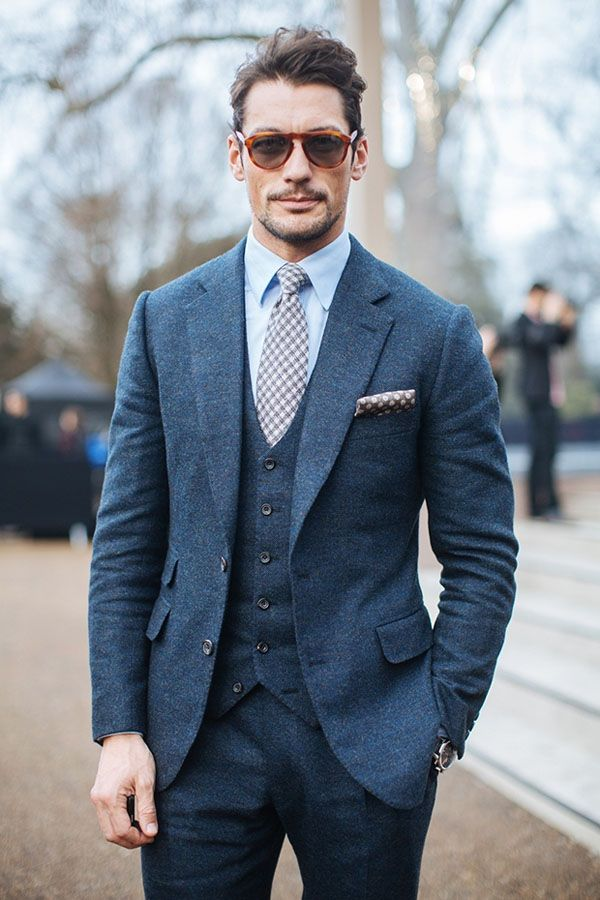 different types of suit and how to wear them- david gandy wool suit