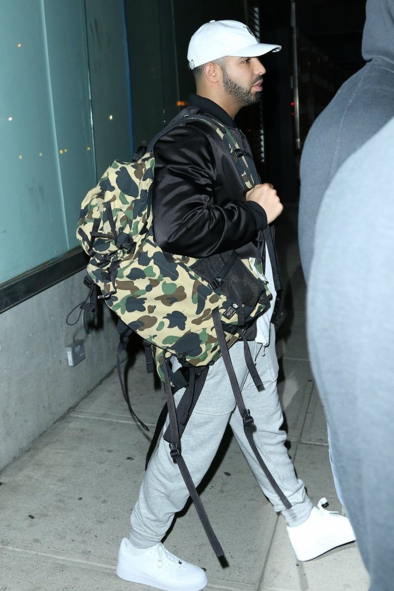 drake-accessories-hat-bag-camo-jeans-jacket