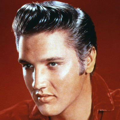 elvis pompadour red shirt
