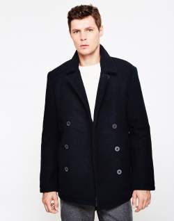 mens farah Kenton peacoat mens black