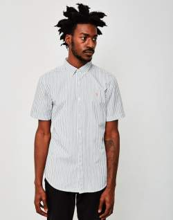 farah sydling short sleeve striped shirt mens fashion