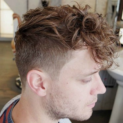 faux hawk haircut mens look curly