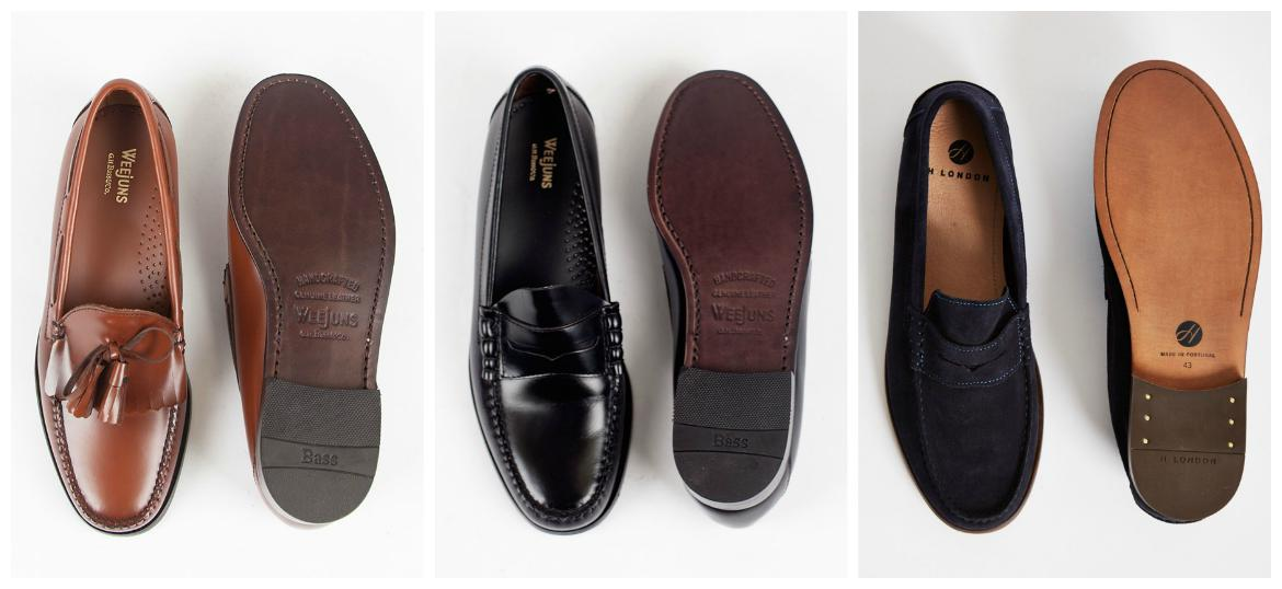 hudson brown suede penny loafers mens
