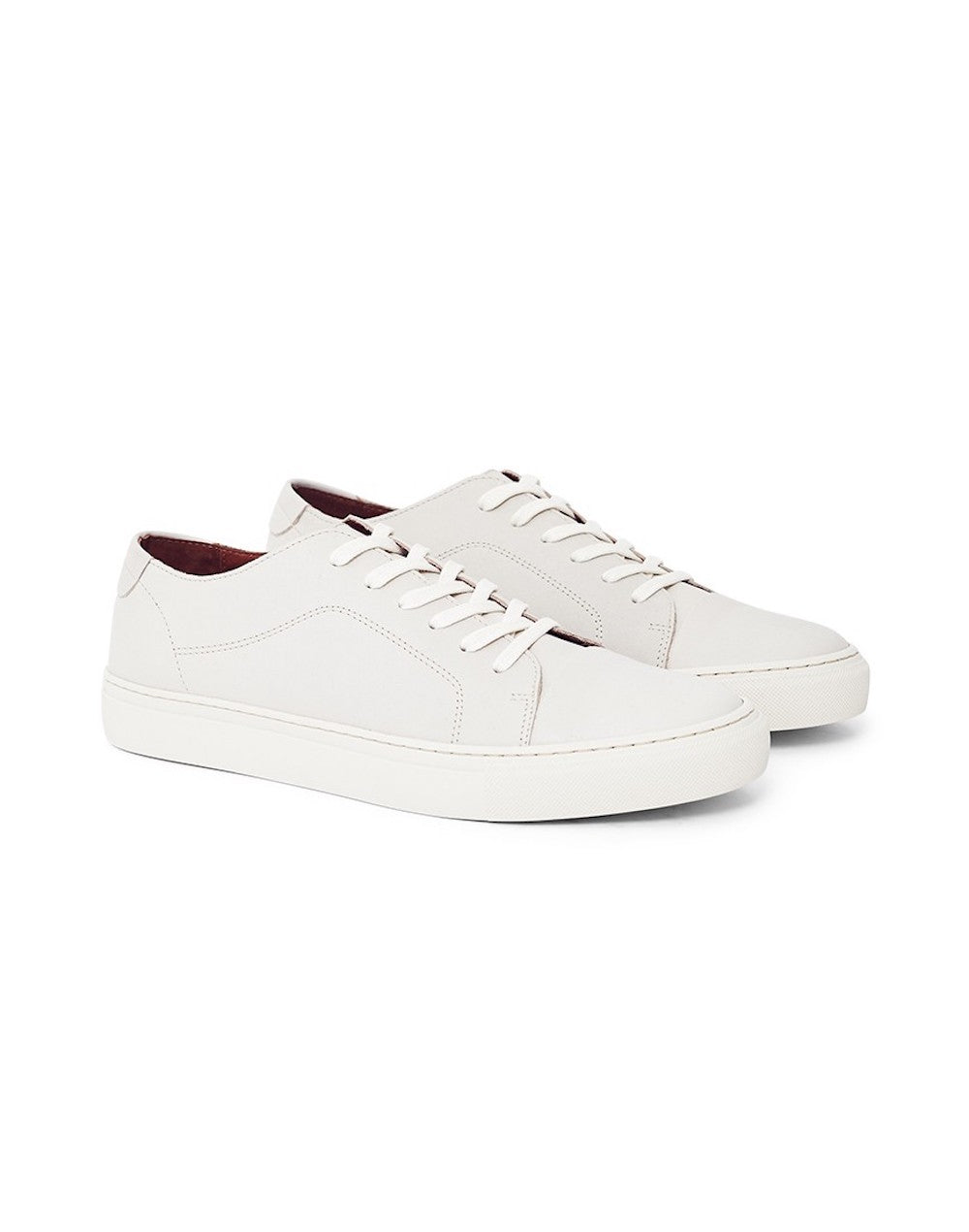 GARMENT PROJECT Classic Lace Leather/Suede Trainer White men