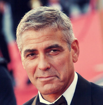 george clooney cowlick