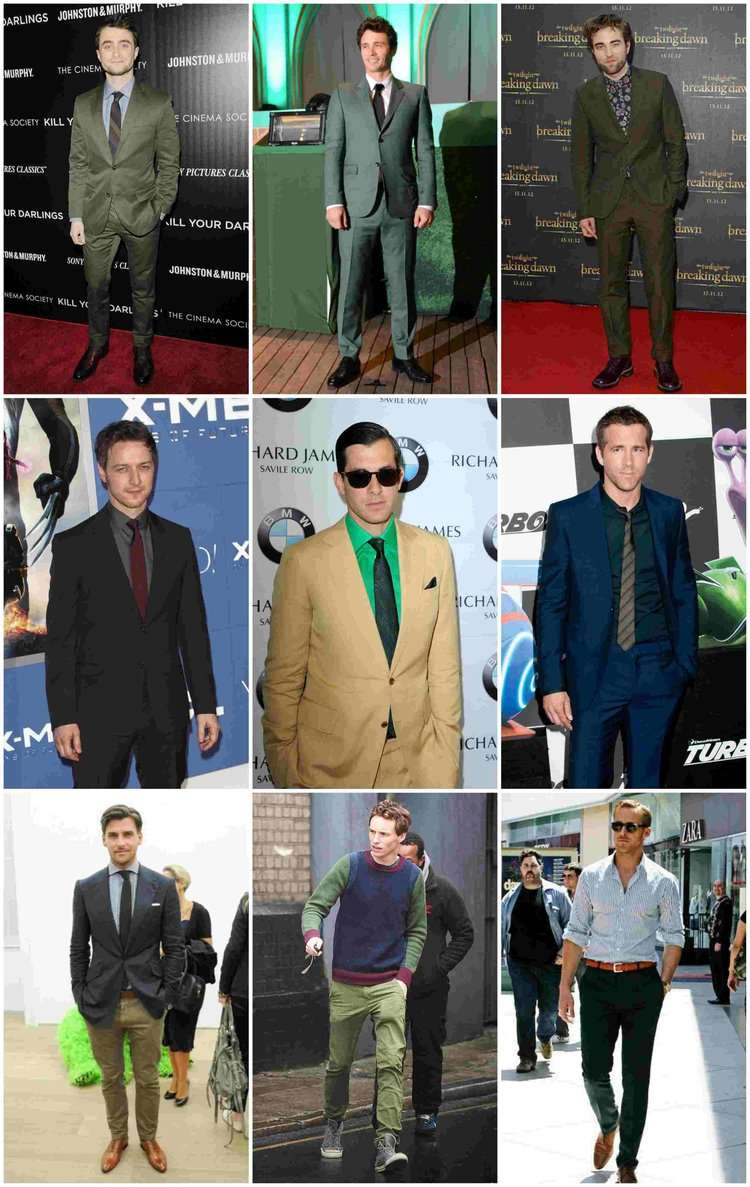 green suits shirts chinos celebrity menswear