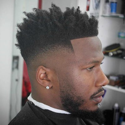 high afro hair for men