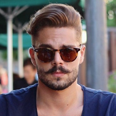 mens hipster beard moustache look