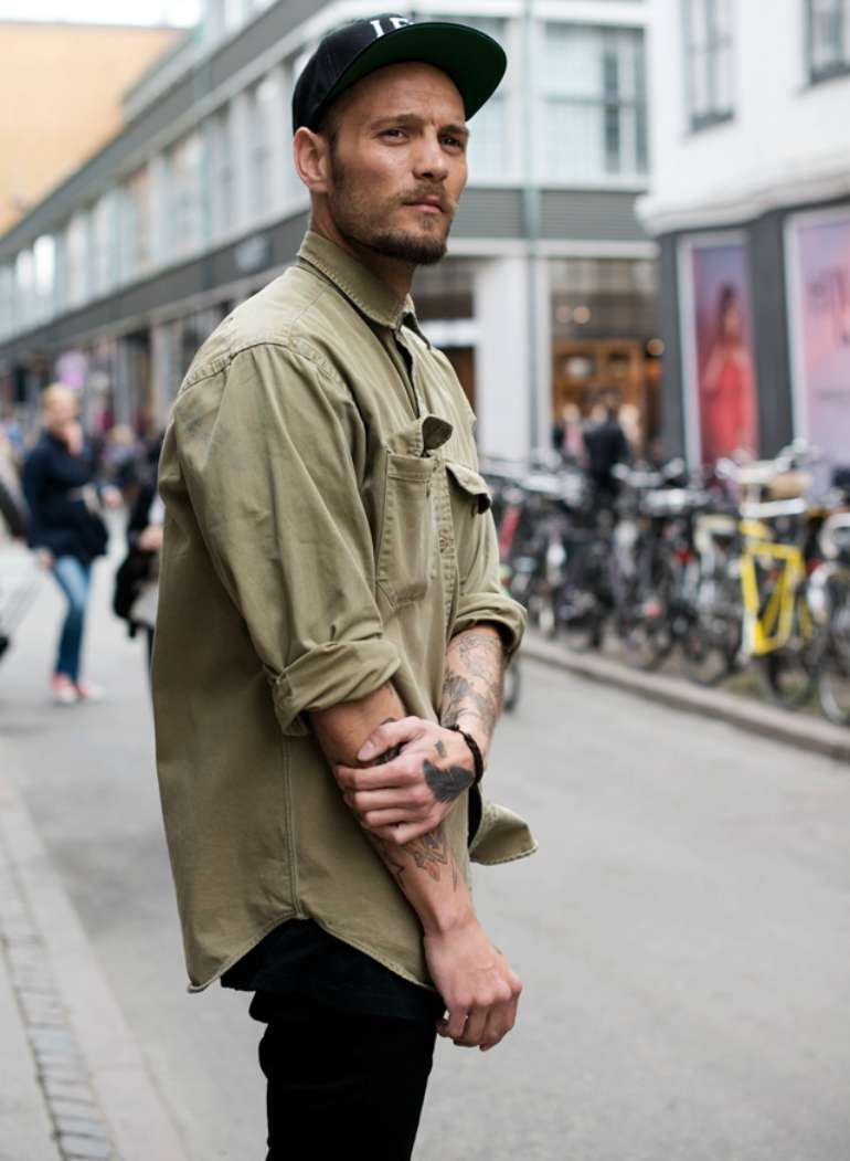 how a hat should fit mens street style