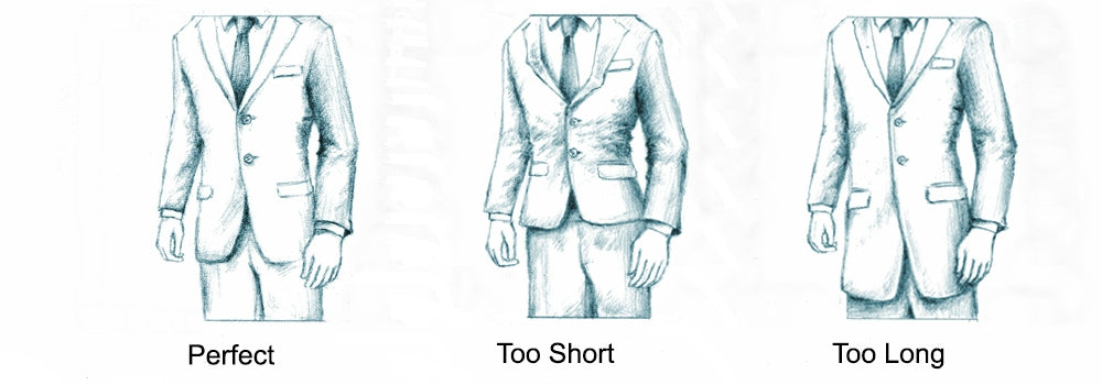 how a suit should fit in the length