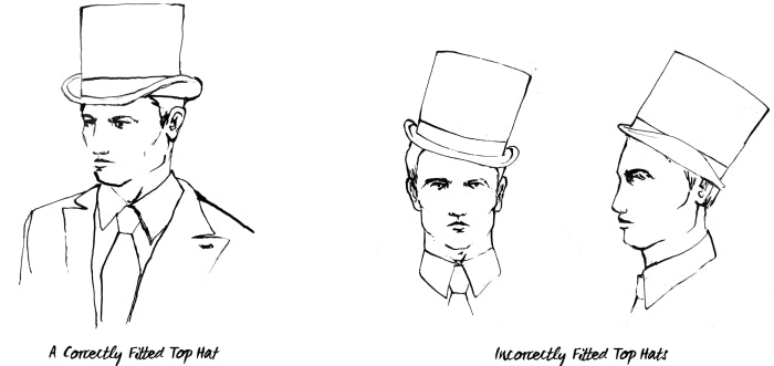 how a top hat should fit how to wear white tie