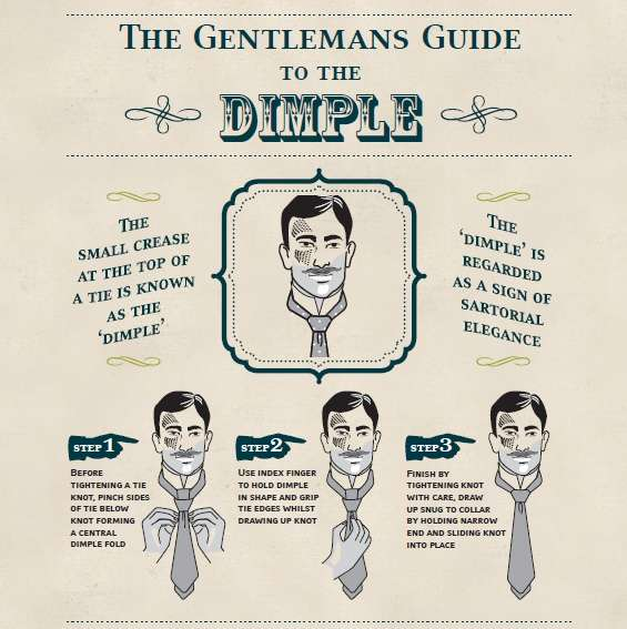 how to achieve the tie dimple instructions gentleman men style formal accessories